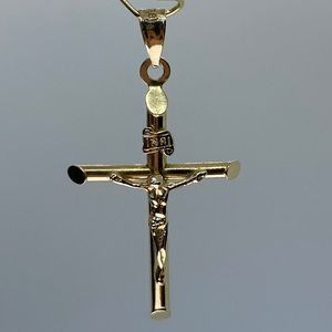 14KT crucifix pendant